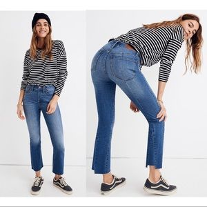 NWT Madewell Demi-Boot Jeans Back-Seam Edition